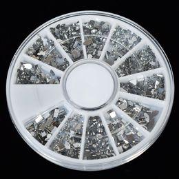 estilos de unhas de acrílico Desconto Novo 6 Estilo Colorido DIY Acrílico 3D Dicas Da Arte Do Prego De Cristal Glitter Rhinestone Decoração Ferramenta Prego Quente