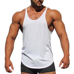 56c86872a599 Marke Kleidung Bodybuilding Tank Top Männer Sleeveless Shirts Fitness Männer  Singlet Leere Baumwolle Workout Stringer Turnhallen Weste
