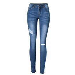 Women's Clothing Pengpious Fashion 2018 Fall Spring New Denim Pants Skinny Legs School Girls Elastic Jeans Wrinkle Sand Blast Washed Lady Jeans