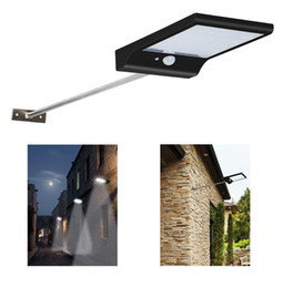 Wholesale motion detector lamps - 36 LED Street Solar Gutter Lights Wall Sconces with Mounting Pole 36LED Outdoor Motion Sensor Detector Light for Barn Porch Lamp