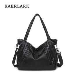 2019 borse di messaggistica delle ragazze KAERLARK 2017 Fashion Women Handbag Brand New femminile PU Leather Ladies Girls Casual Tote Messenger spalla borse a mano WT0114 / 5 sconti borse di messaggistica delle ragazze