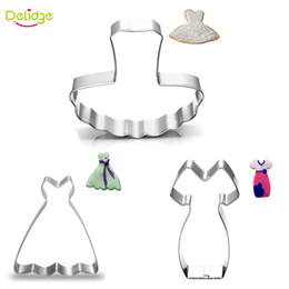 Wholesale ballet woman skirt - Wholesale- 1 pc Women Dress Cookie Mold Stainless Steel Ballet Skirt Shape Cookie Cutter Cupcake Mousse Ring Decoration Mold