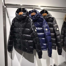 Wholesale Men S Luxury Suits - Real Pictures Mon Jacket Down Three Colors Luxury Brand Men s Clothing Men Winter Outdoor Down Jacket Man Casual Hooded Down Coat Outerwear