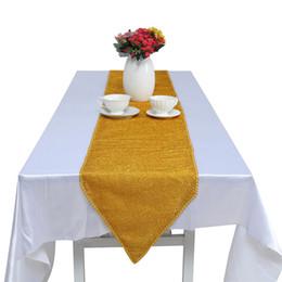 couverture de table de décoration de mariage Promotion 1 PCS or paillettes chemin de table haute qualité scintillant bling chemins de table pour la fête de mariage décoration décoration maison à manger couverture