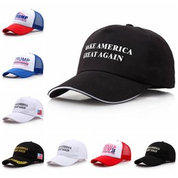 Wholesale Christmas Baseball Caps - Make America Great Again Hat Cap Donald Trump Republican Baseball Cap Christmas Gift Adjustable Baseball Cap EEA67