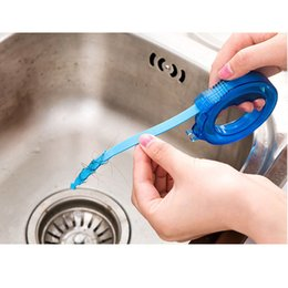 Wholesale Kitchen Sink Brush - stretchable kitchen sink Cleaners bathroom Sewer drainer Filter Cleaning Brush hair remover Anti Clogging clean tools