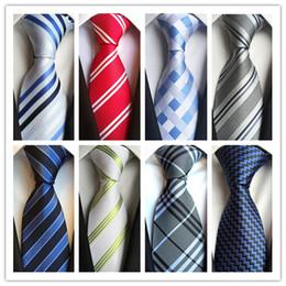 Deutschland 2019 KRAWATTE Hot Fashion Krawatte Herren Klassische Krawatten Formale Hochzeit Business Weiß Grau Navy Streifen Krawatte Für Männer Zubehör krawatte Bräutigam Krawatten Versorgung