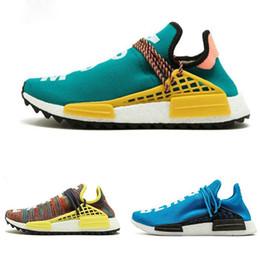 Human Race X HU SPIECES DE LA CARRERA HUMANA Zapatos Para Hombre Zapatillas Deportivas Pharell Williams Mujer Zapatillas de deporte de calidad AAA Calzado tamaño 36-45 desde fabricantes