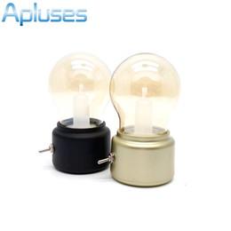 Wholesale Nickel Stone - Creative Vintage Globe Bulb Lamp USB LED Night Light Kids Bed Lamp Sleeping Night Home Decoration Eyeshield Table