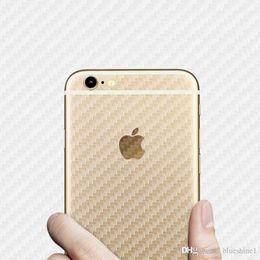 Wholesale Carbon Fiber Phone Sticker - Blueshine 10PCS Back Carbon Fiber Film Cell Phone Sticker for Apple iPhone 6S 6S 7 8 Plus 5 5S se X Pegatinas Accessories