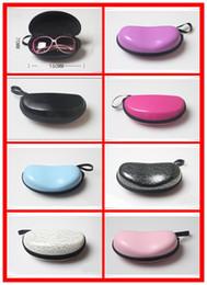 Wholesale Bag Hooks - Sunglasses storage holder Box Compression Eyeglass Case Glasses black pu Eyewear Box Cover Zipper Hook Bag 160*75*55
