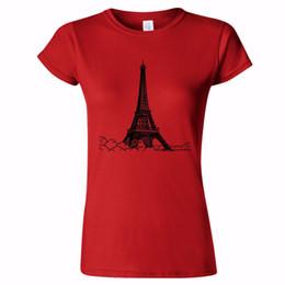 Construir torre eiffel online-EIFFEL TOWER SKETCH ART WOMENS T SHIRT FRANCIA FRANCES NATIONAL BUILDING