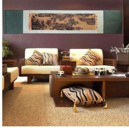 2019 chinesische malerei rollt Chinesische Art Silk Scroll Painting Chinesische traditionelle berühmte Gemälde Kunst Simulation kreative Wandbild Promotion Wohnkultur rabatt chinesische malerei rollt