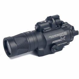 Combo de linterna online-Tactical X400V Pistol Light Combo Láser rojo Constante / Momentáneo / Estroboscópico Salida Rifle Gun Flashlight
