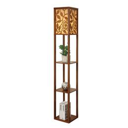 Wholesale Living Room Floor Lamps - High Quality Creative Chinese Style Floor Lamp De Pie Vertical Wooden Floor Light For Living Room Standing Lamp Indoor Lighting