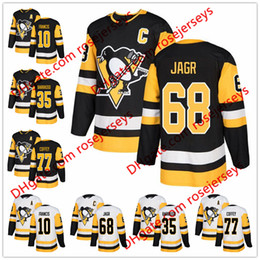 Wholesale coffey jersey - Pittsburgh Penguins #68 Jaromir Jagr 77 Paul Coffey 35 Tom Barrasso 10 Ron Francis 2018 NEW Black White Retired Player Hockey Jerseys S-60