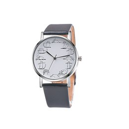watches cat designs Coupons - Retro Design Lovely Cartoon Cat Leather Band Analog Alloy Quartz Wrist Watch couple watch couple men's