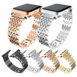 sostituzioni di diamanti Sconti Bling Metal iWatch Fascia 38mm 42mm acciaio inossidabile di ricambio per gioielli Diamond iWatch Cinturino sportivo per Apple Watch Seris 1,2,3