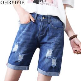 2018 pantalones vaqueros para mujer OHRYIYIE Plus Size 5XL Moda Denim Shorts  Womens 2018 New Summer 6974ba1ca44e