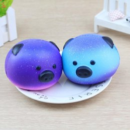 Wholesale Head Pig - Rainbow Pig Jumbo Head Squishy Slow Rising Soft Cream Scented Bread Cake squishy Kid Fun Toy Gift KKA3966