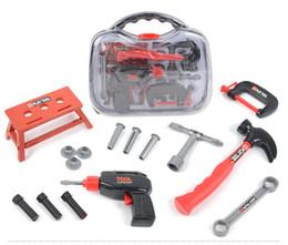 Boutique garçon Boîte à outils jouet Outils Atelier Faire semblant Jouer et Dress-up Jouets Cadeaux simulation outils de maintenance en plastique boîte 2133 ? partir de fabricateur
