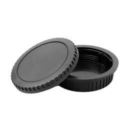 casquillos centrales a presión Rebajas Para la cubierta del cuerpo de la cámara Canon EOS + Tapa de la cubierta posterior del objetivo para el montaje de Canon EOS EF 5D II III 7D 70D 700D 500D 550D 600D 1000D