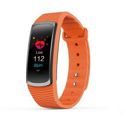 Bande de poignet d'écran tactile en Ligne-Mode Couleur Écran Tactile Smart Bracelet Fitness Tracker Activité Tracker Bracelet Fréquence Cardiaque Sommeil Sédentaire Rappeler Wrist Band