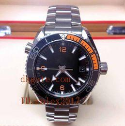 oceano limitado Desconto Mens de luxo de alta qualidade conforto solace edição limitada oceano automático mecânico preto e laranja dos homens esporte relógios de pulso