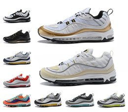 Wholesale uk tables - 2018 New Arrived 98 OG Gundam UK Barely Rose Cone Fossil Running Shoes Sneakers Mens 20th anniversary 98 QS Athletic Shoes for male