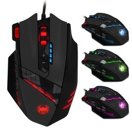 Wholesale Led Gaming Mouse - gaming usb wired mouse Zelotes C-12 Programmable Buttons LED Optical USB Gaming Mouse Mice 4000 DPI souris sans fil