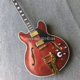 2019 matte e-gitarre Hochwertige Jazz Vintage E-Gitarre, die Weinrot matte echte Fotos, tun alte Gitarre Groß-und Einzelhandel rabatt matte e-gitarre