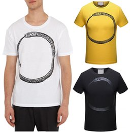 Wholesale Graphic Tops - 2018 Men Printed T-Shirt Hot Sale Graphic Print Round Neck Short Sleeves Top Man 100% Cotton