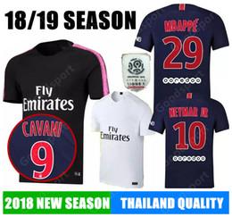 Wholesale ben shirt - 2019 MBAPPE soccer jersey 18 19 CAVANI DANI ALVES SILVA VERRATTI jerseys football shirt Maillot de foot calcio futebal DI MARIA BEN ARFA