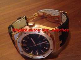 Ouro rosa offshore on-line-Topselling de Alta Qualidade N8 Fábrica de Luxo 41mm Offshore 15400 15400OR.OO.D002CR.01 18 k Rose Gold Mecânica Automática Mens Watch Relógios