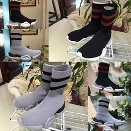 Wholesale Cheap Ankle Boots Heels - Hot Sale Cheap VETEMENT x Ree Sock Shoes Men Women Trainer Dropping Casual Socks shoes Slip-on Elastic Cloth Speed Trainer Runner Shoes
