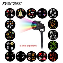 Wholesale Laser Effects Star - 15 PCS RF Wireless Remote Control LED Projection Lamp Snowflake Star Laser Light Stage Lighting Effect for Halloween Christmas
