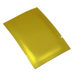 Lámina de calor dorado online-1000 Unids / lote Frosted Gold Aluminium Foil Top Bolsa de Calor Bolsa de Vacío Sellable al Calor Bolsa de Paquete Mylar para Alimentos Bocadillos Paquete de Nueces de Almacenamiento