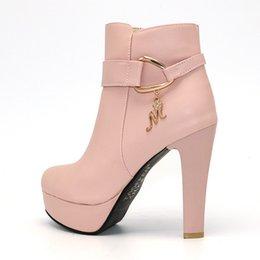 6063d70f0ebae Plataforma de las mujeres Botines Mujeres Zapatos de tacón alto Otoño  Invierno Cálido Zip Botas Mujer Calzado de tacón Tamaño 32-43 calzado de  invierno ...