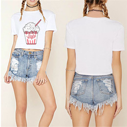 48f706cbfa 2018 summer new Harajuku women t shirt ice Korean style cotton loose crop  tops kawaii short t-shirt women tee tops korean summer crop top shirt on  sale