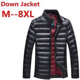 caa39977c274 8XL 7XL 6XL 5XL Autunno Inverno Anatra piumino, ultra leggero sottile plus  size giacca per uomo Moda capispalla cappotto consegna gratuita L18101103