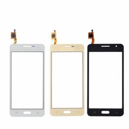 50 pçs / lote para samsung galaxy prime prime g531 g530 tela de toque do painel de toque digitador sensor de lente de vidro reparação substituição de peças de telefone de