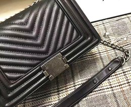 Wholesale classic patterns - Classic Real Leather V Wave Pattern handbag Le Boy Chain Bags Handbags Shoulder Bags designer handbags Tote Bags purse Messenger Bag