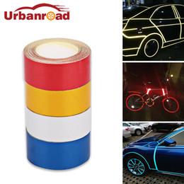 красная автомобильная пленка Скидка 5 м*2 см автомобиль светоотражающая пленка ленты наклейки клей красный мотоцикл светоотражающие ленты предупреждение наклейки безопасности автомобиля укладка автомобиля