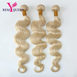 Wholesale dream machine - Dream Remy Queen Brazilian Top Grade 10A 613 Blonde Color Body Wave Hair Bundles 3 Wefts a Lot 100g pc Human Hair
