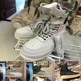 Wholesale linen fabric sewing - High quality Special field one 1 Faded Olive Gum Light Brown Golden Beige Linen black high Boots Men Women Shoes sports