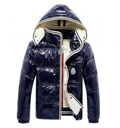 herren weiße jeansjacke Rabatt 2018 Designer Jacken Winterjacke Herren Weiße  Daunenjacke mit Kapuze Schwarz Blau Doudoune 33345d5da7