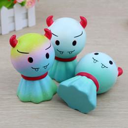 детские игрушки рогатки Скидка Демон Рог кукла мягкий милый 12 см слон медленно растет телефон ремни мультфильм кулон душистый хлеб дети весело игрушка подарок C4572