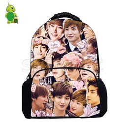 Kpop Super Junior Leeteuk Overlay Backpack Women Men Canvas Backpack Large  Capacity School Bags Boys Girls Fashion Travel Bags 1bd2084b83a71