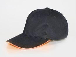 Yeni Gelmesi LED Işık Şapka Glow Şapka Siyah Yetişkin Beyzbol Için Caps Caps Aydınlık 7 Renk Seçimi Ayarı Boyutu ... nereden saç tokmak şeritleri tedarikçiler