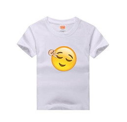 22a9253fac878 smile girl t shirt 2019 - 2018 New Children Tshirt Emoji Smile Print 100  %Cotton